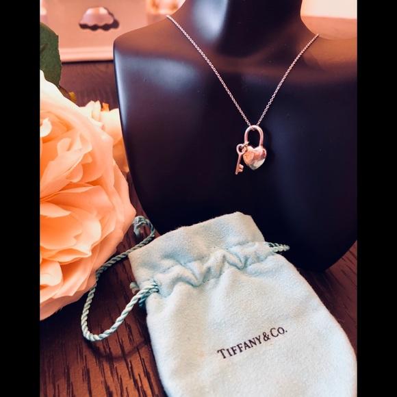 Tiffany Co Jewelry Tiffany Co 1837 Heart Lock And Key Pendant Poshmark